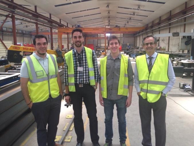 A la izquierda Pablo Arevalo, Jefe de Proyecto Integralia, seguido de Jose García- Aranda responsable de Ingenieros de la Crisis,  a su lado Angels Amador, creador de Más que Ingenieria y por último a la derecha Feliz Hernandez, Responsable de Desarrollo de Negocio Integralia